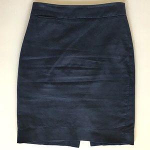 J. Crew Navy Suit Skirt